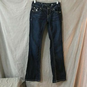 Miss Me Womens Blue Bootcut Jeans Size 25
